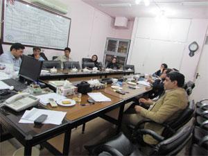 جلسه هماهنگی سوپروایزر های آزمایشگاههای دانشگاه برگزار شد