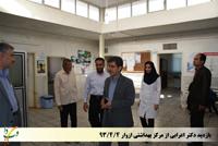 بازدید دکتر اعرابی ازمرکز بهداشتی ازوار